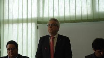 Antoni Solà, tot i que en minoria pot arribar a ser alcalde de Santa Coloma de farners durant vint anys. J.M.S