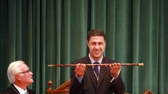 Xavier García Albiol, amb la vara d'alcalde