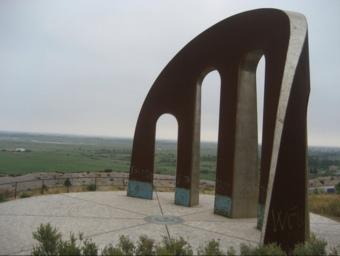 El monument Porta dels Països Catalans celebrarà el vuitè aniversari a l'octubre. ARXIU