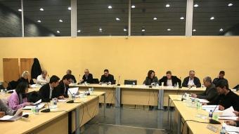Un dels consells d'alcaldes del Gironès que es van celebrar durant l'any passat per les nevades MANEL LLADÓ