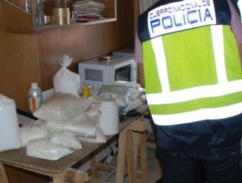 Els laboratoris casolans desmantellats per la policia CNP