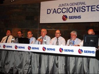 Imatge de la junta d'accionistes celebrada el dia 15 al Castell Jalpí d'Arenys de Munt. SERHS