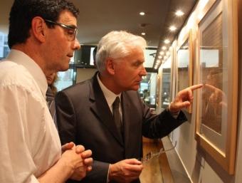El conseller Ferran Mascarell , ahir, durant l'acte de lliurament del dipòsit NORMA VIDAL
