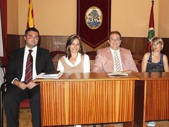 D'esquerra a dreta , Juanjo Almansa, Belen Quintero, Estanis Fors i Susanna Mir. X. SABANYÀ