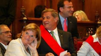 Fernández Díaz bromeja amb la presidenta del Parlament, Núria De Gispert Q.P