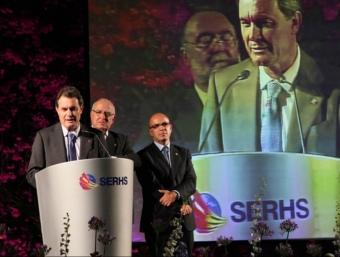 Artur Mas en el discurs del sopar de cloenda dels 35 anys del Grup Serhs celebrat dimarts a Arenys de Munt. GRUP SERHS