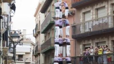 Quatre de nou dels Castellers de Vilafranca. TJERK VAN DER MEULEN