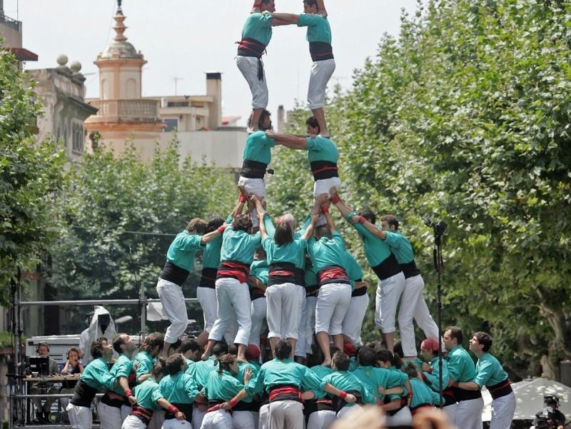 Torre de nou verda, diumenge passat a Mataró. JUANMA RAMOS