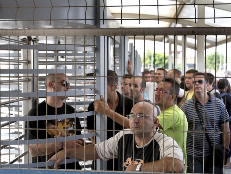 Treballadors d'una coneguda empresa que protesten per l'ERO aplicat. ARXIU