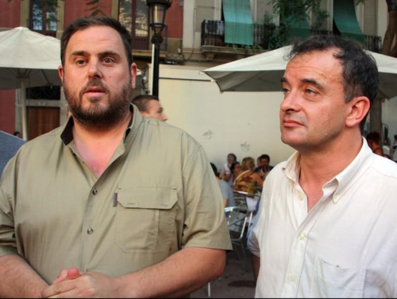 Junqueras i Bosch en una visita dimarts a les festes de Gràcia ACN