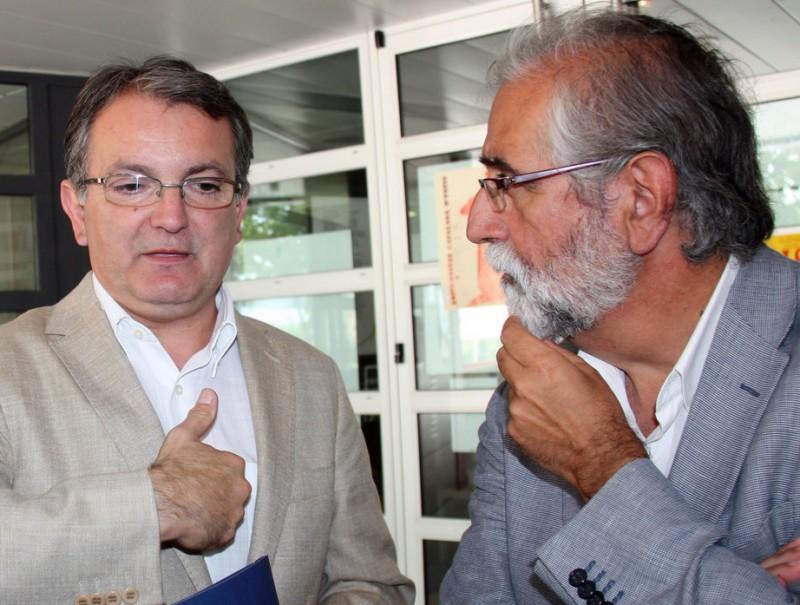 Joan Rotger i Vicenç Villatoro, aquest dilluns a la Universitat Catalana d'Estiu GUILLEM SANCHEZ / ACN