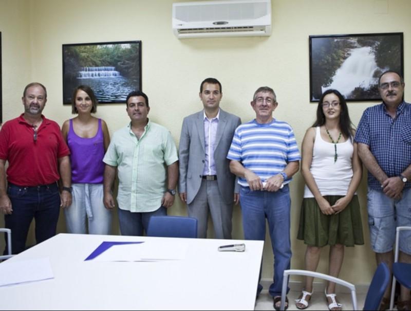 Membres de l'equip de govern de la Mancomunitat de municipis de la Valldigna. CEDIDA