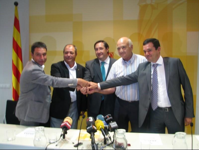 L'aliança comercial es va presentar ahir a la seu de la conselleria a Lleida. DAAM