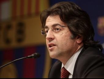 El portaveu del Barça, Toni Freixa, durant una compareixença de premsa REUTERS