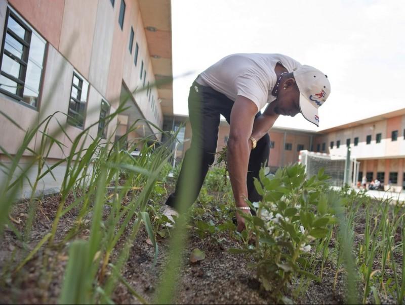 El jardí de la presó de Sant Joan de Vilatorrada la més nova de Catalunya i amb força serveis ROBERT RAMOS