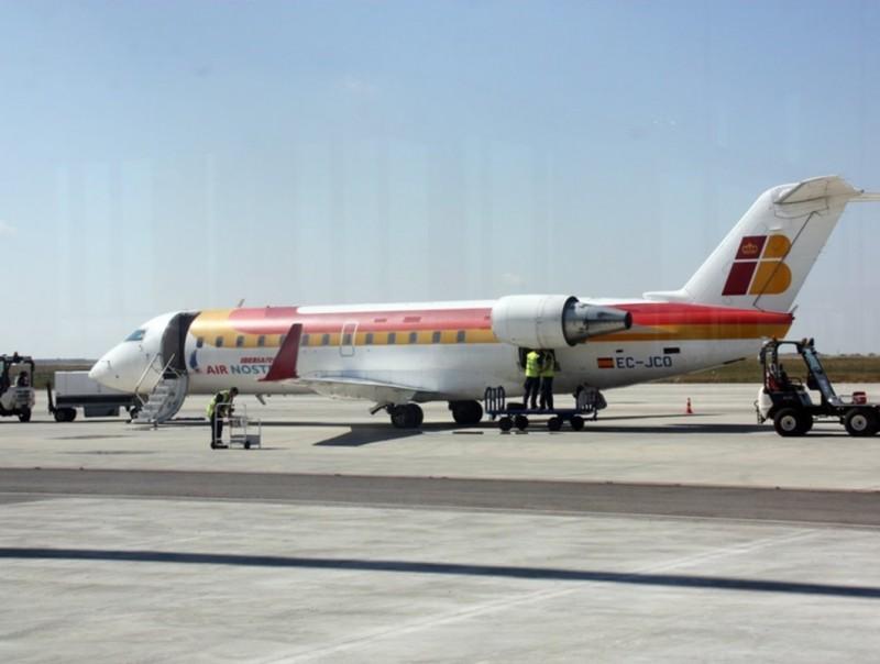 L'avió d'Ibèria-Air Nostrum que ahir va volar des de Lleida fins a Eivissa per últim cop aquesta temporada ACN
