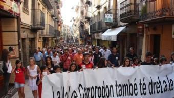 Manifestació a Camprodon contra el tancament nocturn del CAP.