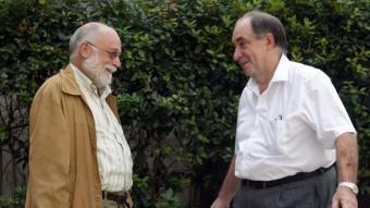 Arcadi Oliveras i Joan Tugores, convocats per L'Econòmic, els moments previs a la conversa sobre els mercats.