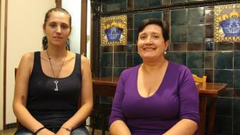 L'Helena i la Ruth, les dues dones que han impulsat i avui manegen les pensions Pérez-Borràs.  LLUÍS SERRAT