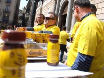 Treballador de Cacaolat, que el 2011 va entrar en concurs.  ACN