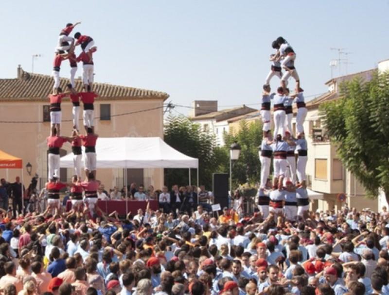 Actuació conjunta al Concurs de Castells de Torredembarra. TJERK