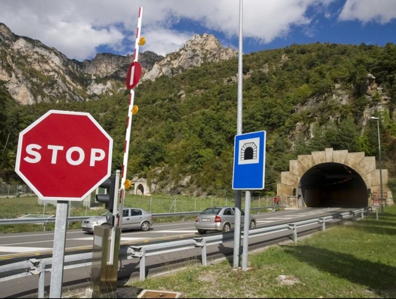 Una vista del la boca de la comarca del Berguedà del túnel del Cadí, el qual al 2009 va fer 25 anys que es va inaugurar. GABRIEL MASSANA