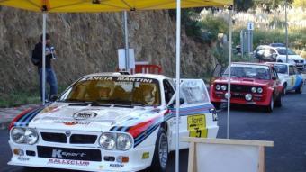 El Lancia 037 de Marco Bianchini, vencedor del Costa Brava 2010, a punt d'arrencar. J.C