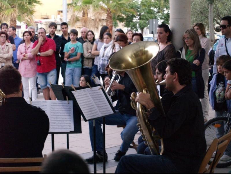 Actuació del quintet de vent metall a l'Hort del Senyor. ESCORCOLL