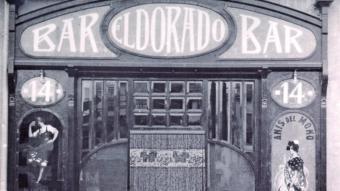 Bar el Dorado, entre els anys 1920 i 1930  L'American Bar, més conegut com a can Montaña, un dels més populars de la Rambla a l'any 1929.  ARXIU IMATGES AJUNTAMENT DE GIRONA CRDI ARXIU IMATGES AJUNTAMENT DE GIRONA CRDI