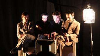 Els quatre ornitòlegs protagonistes de la peça escrita per Josep Pedrals JOAN SABATER