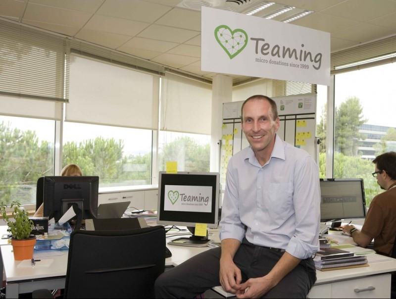 Jil van Eyle, al seu despatx del Grup Intercom, des d'on contribueix a difondre el Teaming.  ARXIU