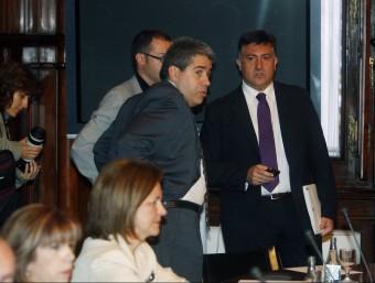 Constitució de la comissió sobre el pacte fiscal, el 3 de juny de 2011.  O. DURAN