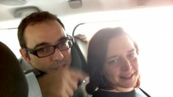 """Els """"púgils"""", al cotxe que els va dur a Girona J. CASANOVAS"""
