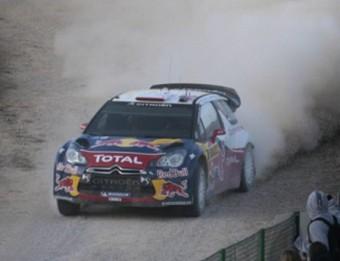 Sébastien Loeb en un tram del ral·li de Catalunya , l'any passat JOSÉ CARLOS LEÓN