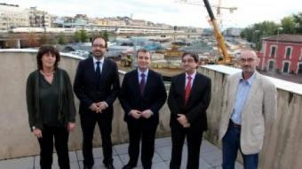 D'esquerra a dreta, Jordà (ERC-Rcat), Sàez (PSC), Xuclà (CiU), Millo (PP) i Vidal (ERC-EUiA). JOAN SABATER