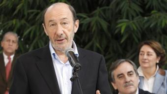 Alfredo Pérez Rubalcaba en la presentació dels candidats de la llista per Madrid EFE