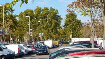 L'aparcament de la Copa , diumenge al migdia. R. E
