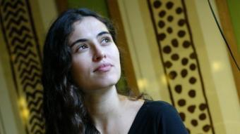 La cantant Sílvia Pérez Cruz, ahir al migdia a la cafeteriade l'Ateneu Barcelonès QUIM PUIG