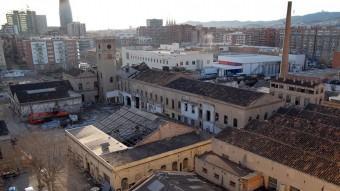 L'antiga fàbrica de can Ricart era un exemple de la Barcelona industrial ben activa al començament del segle passat.  ARXIU