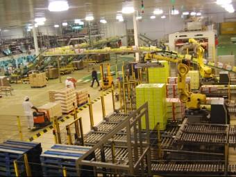 Una planta industrial.