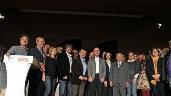 El món municipal gironí donant suport als candidats Xuclà i Duran i Lleida EL PUNT AVUI