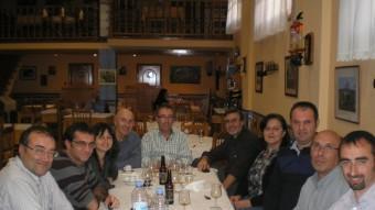 Reunió del professorat de la comarca dels Serrans després de la sessió de treball. CEDIDA