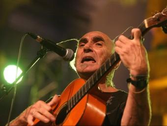 Pau Riba, en l'espectacle Dalí canta el setembre passat a Figueres  LLUÍS SERRAT