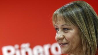 La número 1 per València del PSPV-PSOE, Inmaculada Rodríguez-Piñero. JOSÉ CUÉLLAR