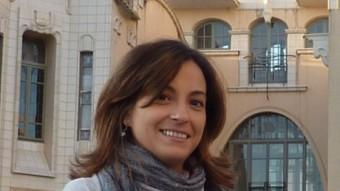 Iolanda Pineda, ahir a la tarda, a Girona. J.T