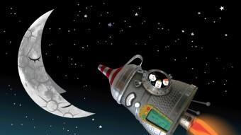 La colla dels Pesquis, en el seu viatge cap a la lluna en aquest espectacle de Murtra Ensemble. SEBASTIÀ SERRA