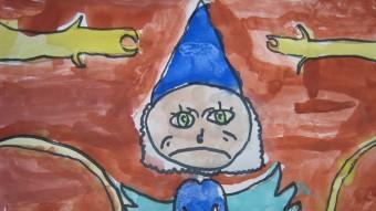 Un dels dibuixos dels nens i nenes que van col·laborar en la creació de l'imaginari per fer l'obra P.G