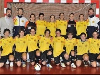 La selecció catalana femenina de futsal. EL 9