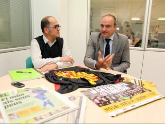 Andreu Subies va visitar ahir la redacció de El 9 Esportiu ANDREU PUIG