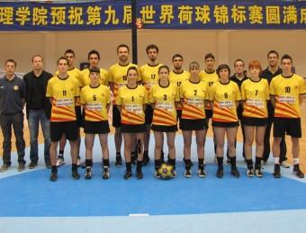 La selecció de corfbol, en l'últim campionat del món, jugat a la Xina EL 9